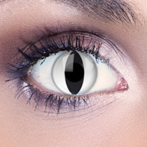 White contact lens