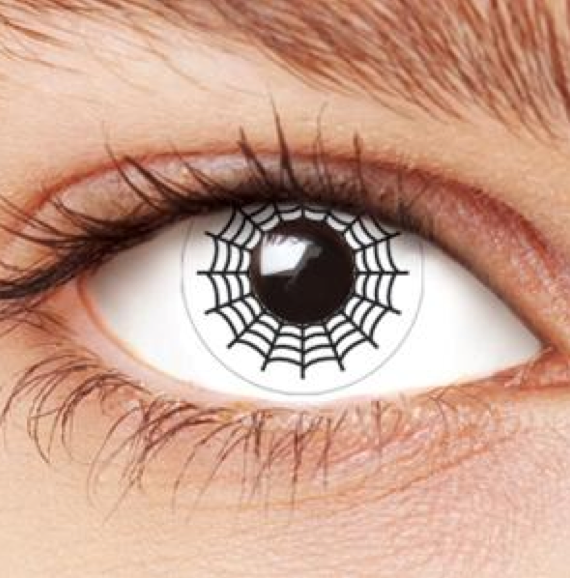 Spider web contact lens